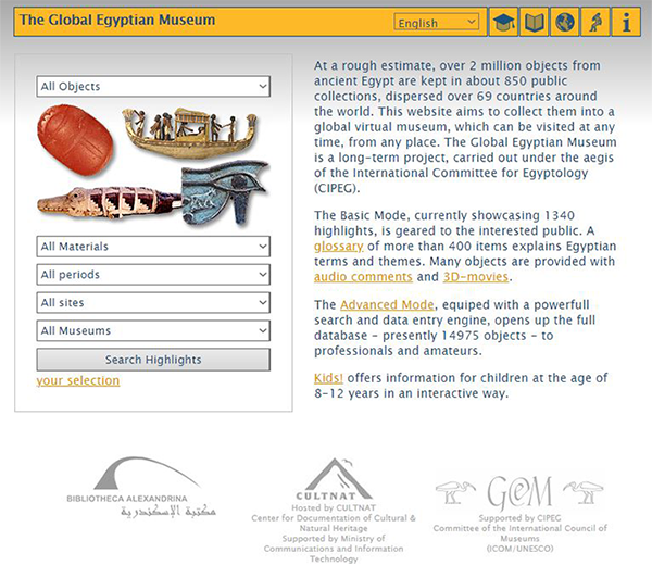 The Global Egyptian Museum web